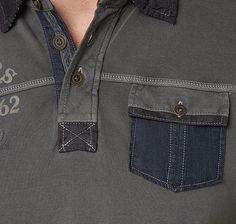 Stoffmix Polo-Shirt für Männer (unifarben mit Print, kurzärmlig mit Polo-Kragen… Camisa Polo, Kids Fashion Boy, Mens Fashion, Mode Online Shop, Tom Tailor, Manish, Polo T Shirts, Men's Collection, My T Shirt