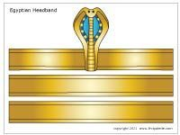 Download the Egyptian headband template 3