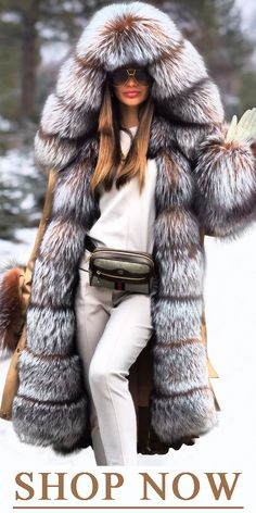 Noble Luxury Fashion Stitching Faux Fur Plus Long Overcoat New Arrival SUPER WARM coat! you can not miss the comfy. Mode Outfits, Stylish Outfits, Fashion Outfits, Womens Fashion, Fashion Trends, Luxury Fashion, Fashion Moda, Warm Coat, Winter Coat