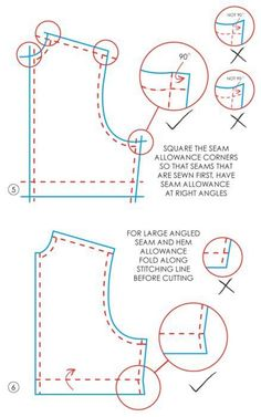 Grading Rulers and French Curves - The Cutting Class. How to shape accurate corners on pattern piece so aligning seams while stitching is easier. Sewing Lessons, Sewing Class, Sewing Hacks, Sewing Tutorials, Sewing Projects, Sewing Patterns, Sewing Tips, Couture Main, Diy Couture