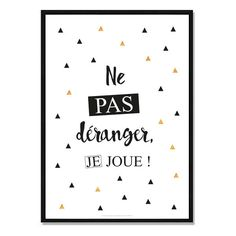 Paper poster with text Do not disturb, I play. Ideal as wall decoration for the bedroom or the playroom - Aurelie Julde - Photo Play Poster, Poster S, Poster Text, Diy Sticker, Wall Texture Design, New Swedish Design, Kids Playroom Furniture, Poster Decorations, Paper Games