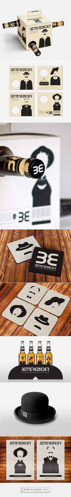 Branding, graphic design and packaging for Bittereinder on Behance by Ronnie La Rue Cape Town, South Africa curated by Packaging Diva PD. Bittereinder refers so someone who pulls through till the end. Aimed at a target market who is between the ages of forty and sixty years old, and still drinks beer.