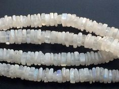 Moonstone  White Rainbow Moonstone Square Heishi by gemsforjewels