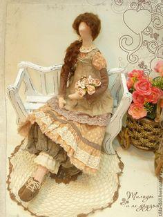 Купить Кукла в стиле Бохо: Милена - тильда, кукла Тильда, куклы тильды, текстильная кукла