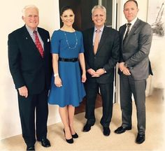 Crown Princess Victoria met with the National Geographic Society's President and CEO Gary E. Knell and photographer Mattias Klum on May 29, 2015 in Stockholm.