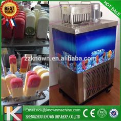 Stainless steel commercial automatic ice-cream/ lolly popsicle stick making machine with 4 moulds