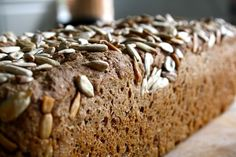Posts about Solsikkekerner written by klappeklappekage Danish Rye Bread, Dough Recipe, Banana Bread, Food And Drink, Gluten, Baking, My Favorite Things, Desserts, Recipes