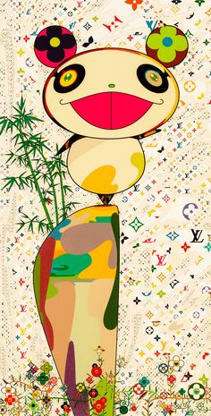 Takashi Murakami (b. 1962). Detail from Superflat Monogram: Panda and His Friends