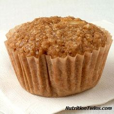 Appley Bran Muffins | Great pre-workout snack for just 168 calories! from NutritonTwins.com
