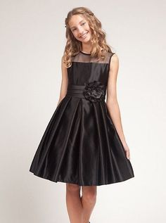 d929a5c72b1c Flower Girls Dress Wedding Easter Junior Bridesmaid Christmas Wedding Black  4-12