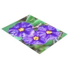Doormat Purple Flowers Photography #zazzle #decor #homedecor