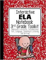 Interactive Notebook for Reading Standards for Third Grade! Covers 100% of the Third Grade Reading Standards: Literature, Informational Text and Foundation Skills.