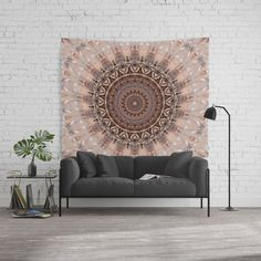 Black Friday Starts Now - 25% Off Everything - Free Shipping On Most Products With Code BLACKFRIDAY Mandala romantic pink Wall Tapestry