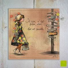 """Carte postale """"Si rien n'est prévu"""" illustrée par Myra Vienne"""