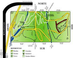 Mapa del Parque Ecológico Cascadas de Tatasirire, Jalapa, Guatemala.