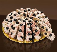 Quaranta nougat slices with sour cherries available from www.sweetmomentsuk.co.uk