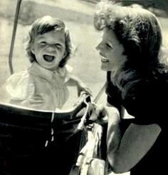Rita Hayworth with daughter Yasmin (who cared for her mom during Alzheimers)