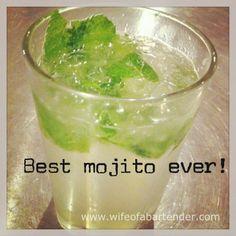 Best mojito recipe ever. | www.wifeofabartender.com