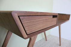 Elroy Desk by Detschermitsch - modern - desks - los angeles - Just Modern Inc Simple Furniture, Wooden Furniture, Furniture Projects, Furniture Design, Mid Century Furniture, Furniture Inspiration, Wood Design, Retro Vintage, Modern Desk