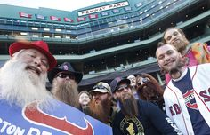 Baseball fans sport beards, real and fake, inside Fenway Park in Boston, Wednesday, Sept. 18, 2013, prior to a baseball game between the Boston Red Sox and the Baltimore Orioles. The Red Sox sold a number of tickets for the game for one dollar to fans who sported beards resembling those of some of the Red Sox players. (AP Photo/Elise Amendola)