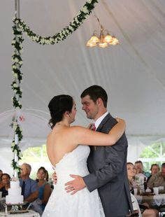 Wedding first dance wedding tent          Cobb Hill Estate  8 15 15