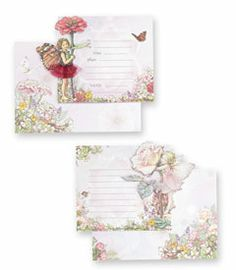 flower fairies party invitations & thank you notes