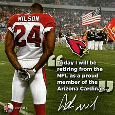"""It was a pleasure to be there that day. Adrian """"A-Dub"""" Wilson (S) retires as an Arizona Cardinal! Cardinals Football, Nfl Arizona Cardinals, Football Season, Football Players, National Football League, Baseball Cards, Sunday Funday, 4 Life, Legends"""