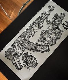 Tattoo Flash Set By Adam Hathorn Guru