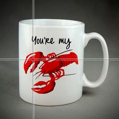 Coffee Mugs-Coffee Cups-My Lobster Dear-Funny by MugsleyShot