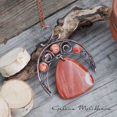 Wire wrapped earrings 386042999310008001 - coral wire wrapped pendant with arch and swirls, beads and triangular dangle Source by cocowashgm Copper Jewelry, Beaded Jewelry, Jewellery, Copper Bracelet, Copper Wire, Wire Crafts, Jewelry Crafts, Wire Jewelry Designs, Handmade Wire