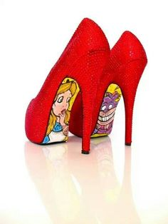 Alice in wonderland heels