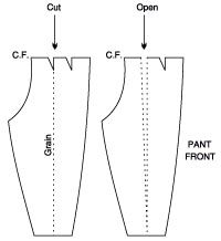 Trousers - Changing a Darted Pant to a Pleated Pant and Vice Versa