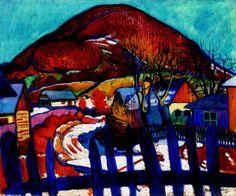 """Sándor Ziffer (Hungarian, Winter Landscape with Fence, Oil on canvas, 91 x 109 cm. Henri Matisse, Art Moderne, Winter Landscape, Budapest, Fence, Oil On Canvas, Modern Art, Museum, Neon"