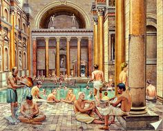 Baths of Caracalla-reproduction of the leisure center built  by Emperor Caracalla at the beginning of 3rd century AD