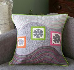 Esch House Quilts: Modern Quilted Pillow Swap Received!