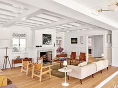 Spanish Chairs caught from behind in this spacious living room.