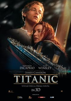 Titanic is a 1997 Hollywood Drama, Romance film starring Leonardo DiCaprio, Kate Winslet, Billy Zane & Kathy Bates. The film release on 19 Dec Films Hd, Films Cinema, Hd Movies, Movies Online, Iconic Movies, Watch Movies, Latest Movies, James Cameron, Chick Flicks