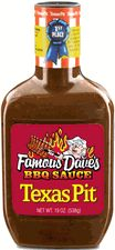 Famous Dave's BBQ Sauce, Texas Pit 19 oz-Gluten Free