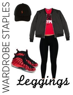 """""""Untitled #109"""" by tay-liangg on Polyvore featuring NIKE, T By Alexander Wang, Leggings and WardrobeStaples"""