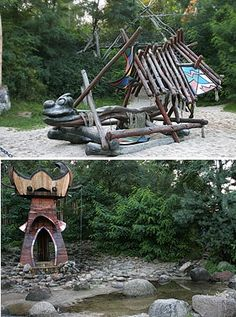 Kulturinsel Einsiedel playground playscape playhouse boat