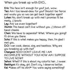 ' The ones that I found the funniest were tao, luhan, kai, chen and chanyeol. Trauma, Chanyeol Baekhyun, Exo Kai, Exo Facts, Fangirl, Kim Minseok, Xiuchen, Exo Ot12, Exo Memes