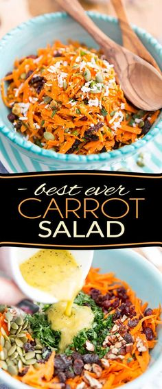 Ready in just a few minutes, this is undoubtedly the Best Carrot Salad EVER! Try it once and I can guarantee that it will become your go-to carrot salad recipe! Just be sure not to leave the secret ingredient out...