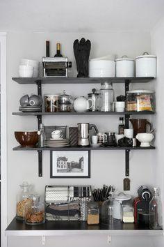organizing, shelves