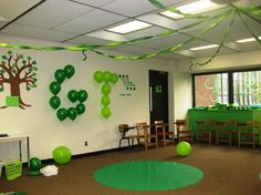 Balloons attached to the wall with painters tape.. who would have thought?