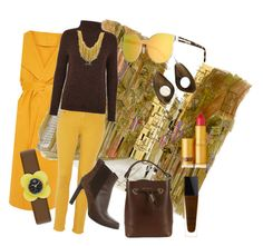 """Yellow street style"" by adriane-quoos on Polyvore featuring rag & bone, Furla, Lipstick Queen, Karen Walker, Just Female, Tod's, Orlando Orlandini, Lancôme and Orla Kiely"