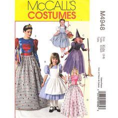 McCalls 4948 Girls Costume Pattern Dorothy by finickypatternshop, $7.25