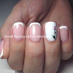 20 Great Spring Nail Designs 2019 - New Ideas Flower Nail Designs, Flower Nail Art, Nail Designs Spring, Cool Nail Designs, Nails Yellow, Red Nails, Spring Nail Art, Spring Nails, Manicure Y Pedicure