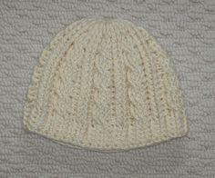 Crochet cable stitch beanie pattern