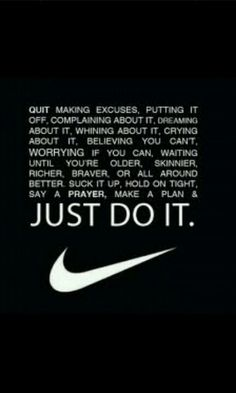 Nike has the best motivational workout quotes #Nike #workout #getfit #motivated