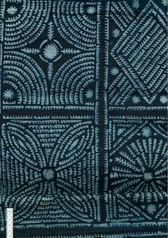 Africa | Wax resist indigo dyed textile | 2nd half of the 20th century